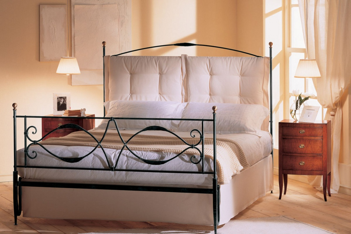 Cuscini Per Letto In Ferro Battuto.Wrought Iron Double Beds Dane Mobili